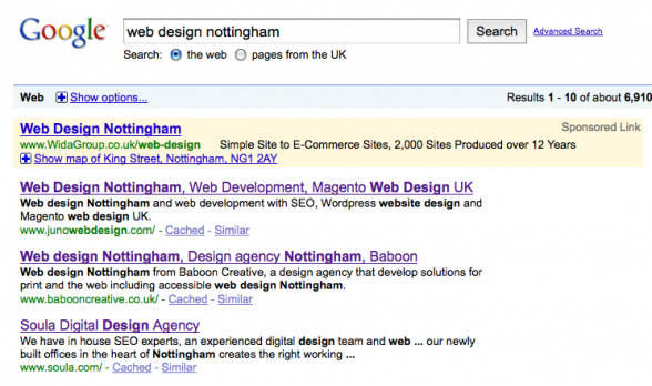 Web Design Nottingham | Number One