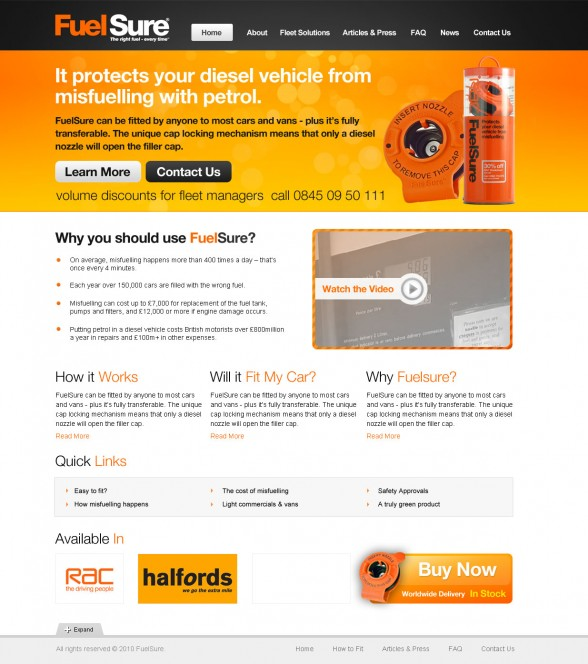 fuelsure-web-design